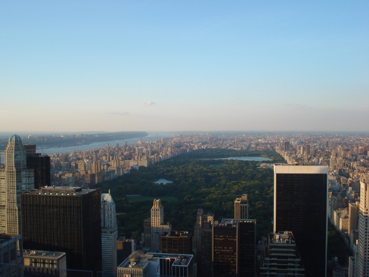 Vista do Top of the Rock para o Central Park